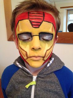 11 best iron man face paint images painting man faces iron man