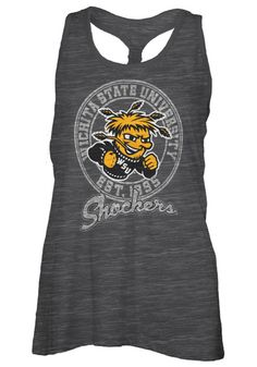 Wichita State Shockers Womens Tank Top - Black WSU Andrea Sleeveless Shirt http://www.rallyhouse.com/shop/wichita-state-shockers-pressbox-22640089 $19.99