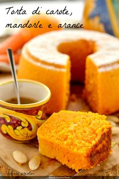Carrot cake, almonds and oranges Sweet Recipes, Cake Recipes, Dessert Recipes, Cooking Time, Cooking Recipes, Torte Cake, Chiffon Cake, Creative Food, Food To Make