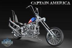 CAPTAIN AMERICA by ナオミ Captain America, Harley Davidson, Bicycle, Bike, Bicycle Kick, Bicycles