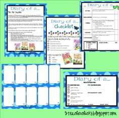 Follow up writing activities to the books Diary of a Worm, Diary of a Fly, Diary of a Spider.