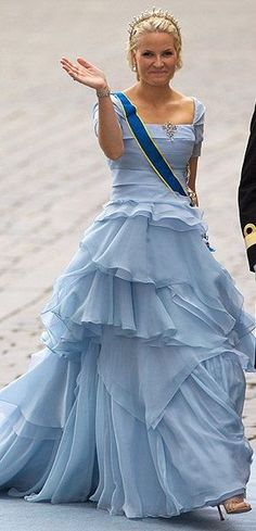 Crown Princess Mette Marit of Norway attends the Wedding Banquet for Crown Princess Victoria of Sweden and her husband prince Daniel at the Royal Palace on June 19, 2010 in Stockholm, Sweden.
