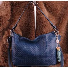 Womens fashion blue leather shoulder #handbags $125.00 - Out of stock