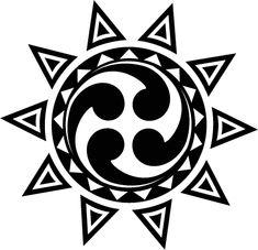 """Polish Solar symbol Rodzimy Kosciol Polski (ten-rayed sun with four-fold """"tomoe"""" type quasi-swastika symbol in center)"""