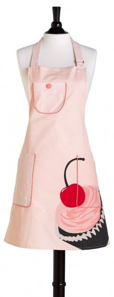 Pink kitchen? Don Jessie Steele Bib Chef's Cherry Cupcake Apron. Kind of makes me want a cupcake!