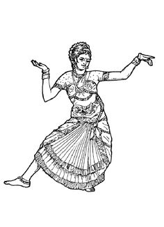 to print this free coloring page coloring adult danse indienne