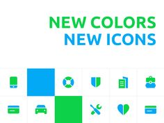 New icons by Alex Lafaki
