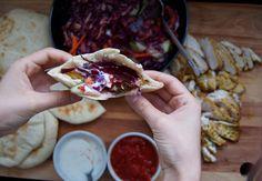 Serving Kebab