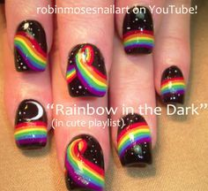 It seems only fitting to post some rainbow nail art today to celebrate the landmark gay marriage equality decision. FINALLY!