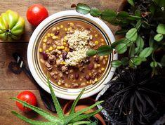 Quinoa Raz! Chana Masala, Quinoa, Chili, Soup, Ethnic Recipes, Chile, Soups, Chilis