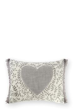 Buy Appliqué Heart Embroidered Cushion from the Next UK online shop