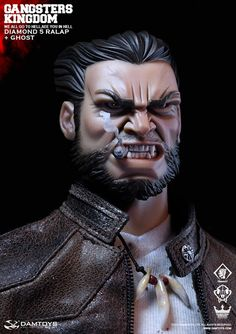 """toyhaven: DAM TOYS Gangsters Kingdom 1/6th scale Diamond 5 """"Ralap"""" 12"""" figure and Wolf """"Ghost"""""""