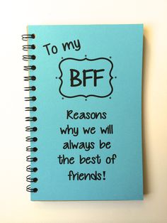 Best Friend Gift BFF Class of 2019 Friends Friends Notebook Personalized Notebook gift Sketchbook Reasons Why meaningful Diy Gift For Bff, Diy Best Friend Gifts, Bestie Gifts, Presents For Best Friends, Diy Bff Gifts, Personalized Best Friend Gifts, Diy Gifts For Bestfriends, Cute Gifts, Friendaversary Gifts