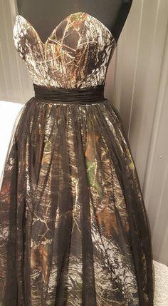 Strapless Camo Ball Gown Size 8 - Sandra Rose, llc