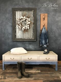 Bon Add A Faded Denim Look To Your Furniture With Paint! It Was So Easy!