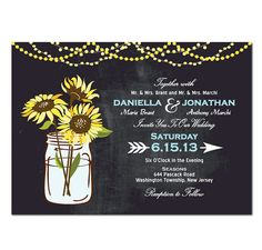 Sunflower Wedding Invitation DIY PRINTABLE by TreasuredMomentsCard, $19.99