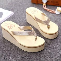 d630616fd Summer Shoes Woman Summer Sexy Flip Flops Women Sandals Bohemian Muffin  Slope With Sandals Women S Slippers Zapatos Mujer