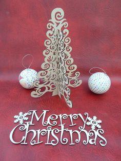 3d laser cut christmas tree - Daisymoon Designs
