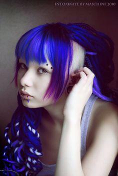 purple dread mohawk