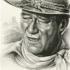"John Wayne Fine Art Pencil Portrait by Monte Moore. ""The Cowboy"". Classic Western movies and artwork has always held a special place in my heart since I grew up on a working cattle ranch in the and and this is my tribute to my family background. Behold A Pale Horse, Westerns, Apocalypse Art, Graphite Art, Michael Moore, Cowboy Art, John Wayne, Pencil Portrait, Wildlife Art"
