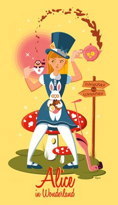 Alice /// by Szoki. #aliceinwonderland #fanart