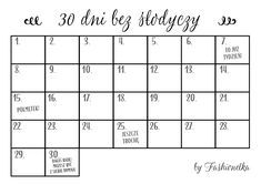 30 bez słodyczy tabelka Best Diets To Lose Weight Fast, Need To Lose Weight, Diet Planner, Fitness Planner, Weight Loss Eating Plan, Bullet Journal Banner, Organization Bullet Journal, Diy Notebook, Thing 1