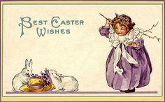Fan Art of Vintage Bunnies & Easter Cards for fans of Vintage.