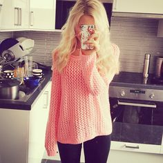 neon pink top from H&M