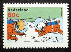 tintin and snowy Nederland 16576 Framed by PassionGiftStampArt
