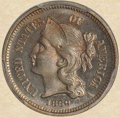 1869 Three Cent obverse