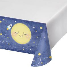 "To the Moon and Back 54"" x 102"" Border Print Plastic Tablecover/Case of 6 Tags: To the Moon and Back; Plastic Tablecover; Baby Shower; baby shower party ideas;baby shower plastic tablecover;baby show party tableware;baby shower tableware; https://www.ktsupply.com/products/32786351112/To-the-Moon-and-Back-54doublequote-x-102doublequote-Border-Print-Plastic-TablecoverCase-of-6.html"