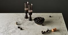 Montblanc Caesarstone has a pale grey background and a flurry of dark-grey veins. The Caesarstone Supernatural Collection offers the widest range of colours and designs in premier quartz surfaces.
