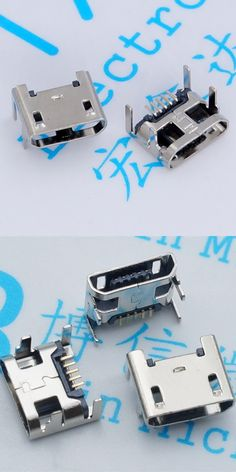100pcs/lot Micro USB connector 5pin seat Jack Micro usb Four legs 5P Inserting plate seat Mini usb connector Free shipping