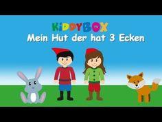 Mein Hut der hat 3 Ecken - Kinderlieder zum Mitsingen - (KIDDYBOX.TV) Karaoke Lyric Songtext - YouTube