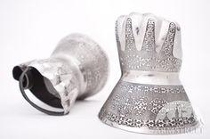 Demi-gants décapés médiévaux de combat d'ArmStreet