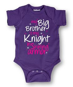 Look what I found on #zulily! Purple 'Big Brother Is My Knight' Bodysuit - Infant #zulilyfinds