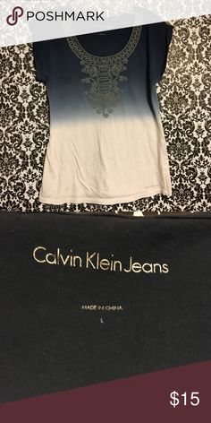 Calvin Klein blouse Calvin Klein Jeans top with embroidery on neck front. Calvin Klein Jeans Tops Blouses