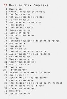 Stay creative!