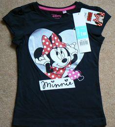 Girls Disney Summer BRAND NEW T-Shirt Minnie Mouse 100% Cotton Various Sizes #ebay #paulscorner #disney #minniemouse #tshirt #fashion #summer
