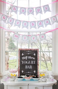Slumber Party Ideas ~ Yogurt Bar + uplifting party ideas for your tween #slumberpartyideas #tweenparty #teenpartyideas