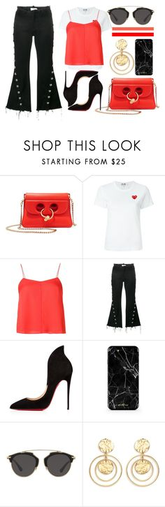 """London"" by fridaeklof ❤ liked on Polyvore featuring J.W. Anderson, Play Comme des Garçons, T By Alexander Wang, Marques'Almeida, Christian Louboutin, Christian Dior and Kenneth Jay Lane"