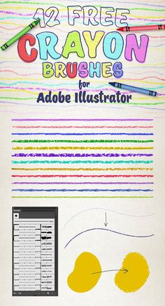12 Free Crayon Brushes for Adobe Illustrator