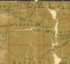Wilbarger County Texas history, town list, vintage maps & more. Vernon Tx, Texas History, Driving Directions, Vintage Maps, Vintage Cards