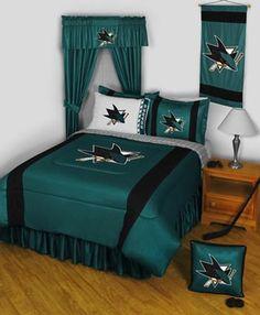 San Jose Sharks Sidelines Bedding / Accessories Set