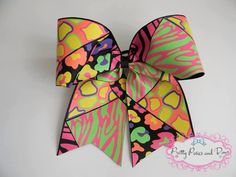 Cheer Bow Competition Cheer Bow Neon Cheer by PrettyPosiesandBows  https://www.etsy.com/listing/218400354/cheer-bow-competition-cheer-bow-neon?ref=shop_home_active_6