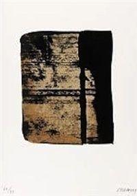 Serigraphie no. 11 from Sur le mur den face by Pierre Soulages