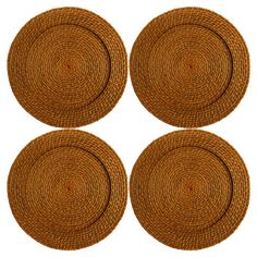 Set of four rattan charger plates.  Product: Set of 4 charger platesConstruction Material: Rattan Color: ...
