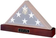 The Veteran Flag Display Case is a beautifully crafted, solid wood flag case made in the USA. This high quality, impressive case is available in Golden Oak finish-solid ash, Exquisite Cherry finish-solid maple or Heirloom Walnut finish-solid walnut and is designed to hold a 5ft x 9.5ft burial flag.