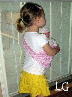 DIY Baby Doll Sling tutorial