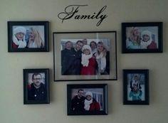 My family wall Christmas 2012 1-2013